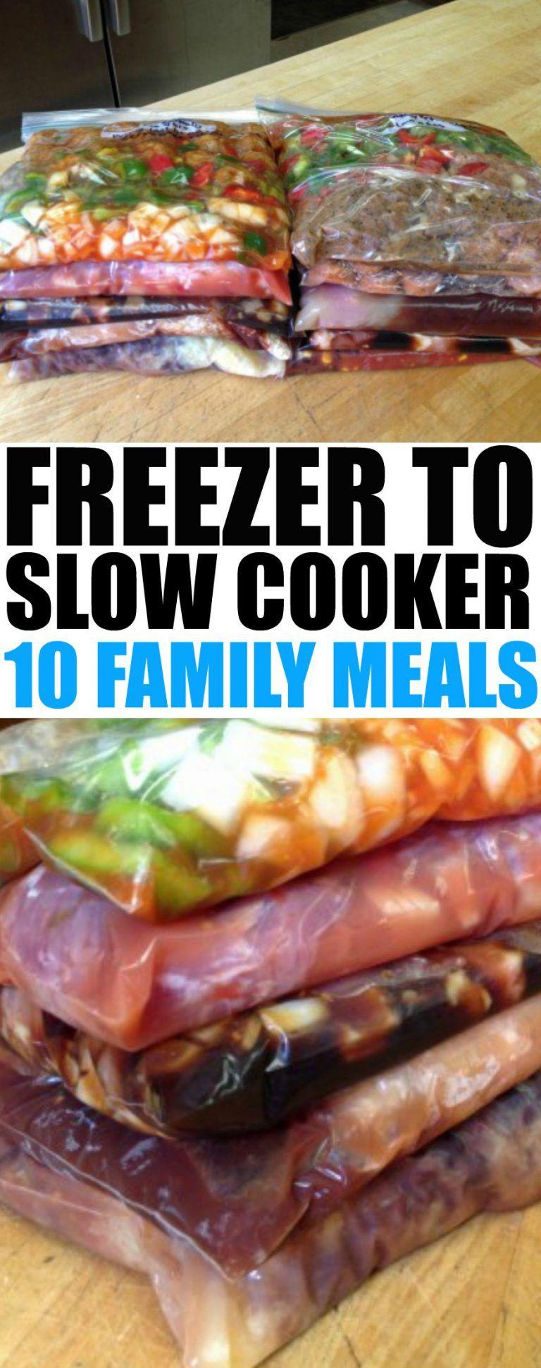 10 Easy Crockpot Freezer Meals #crockpotmealprep