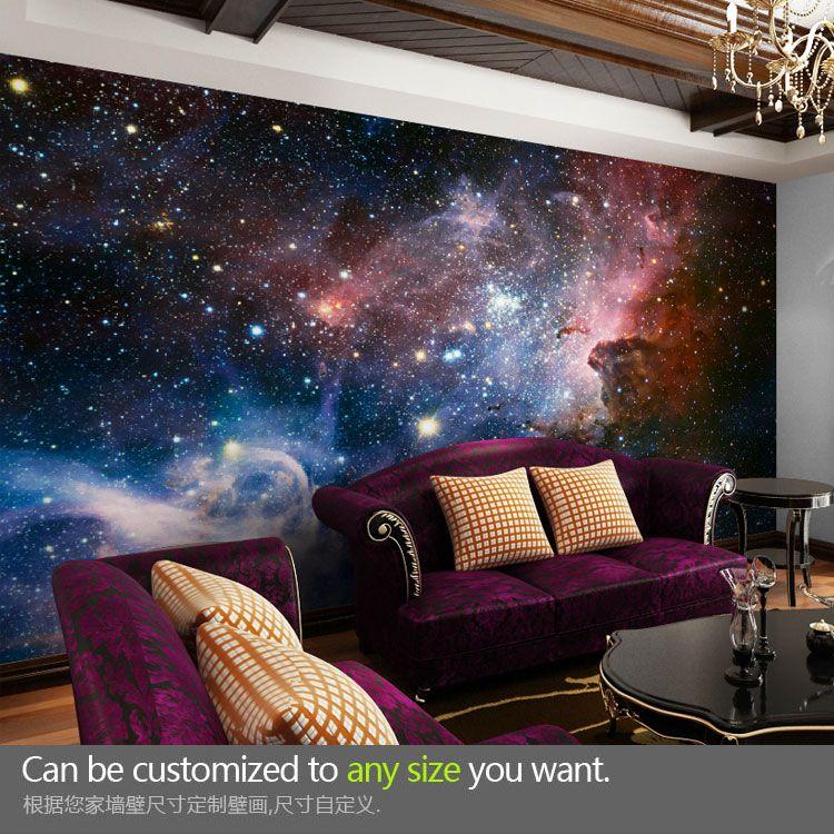 Buy Custom Large Wallpaper Star Universe The Living Room Bedroom Ceiling Mural Relief Grain Material At Home