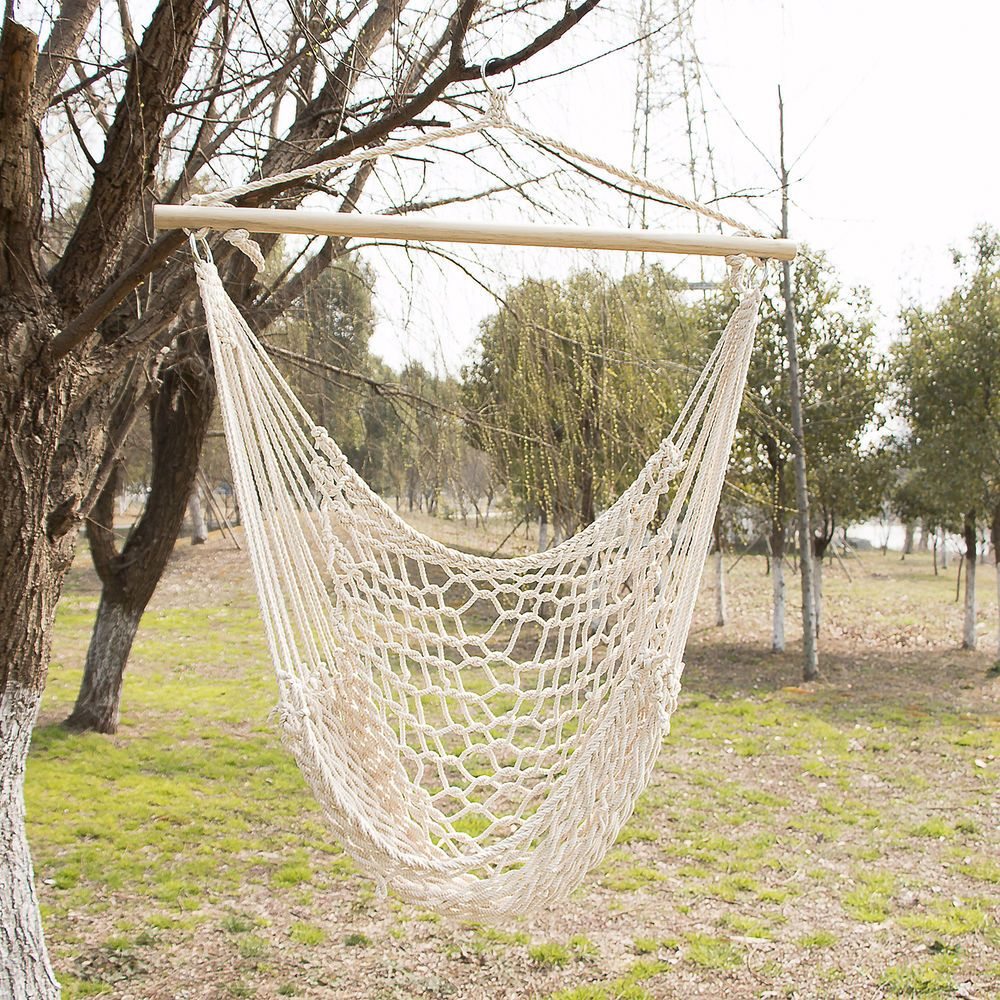 Our Walcut Polyster Cotton Hammock Is The Perfect Way To Enjoy The Afternoon Breeze Or Lay Under The Sta Hammock Chair Rope Hammock Chair Hanging Hammock Chair