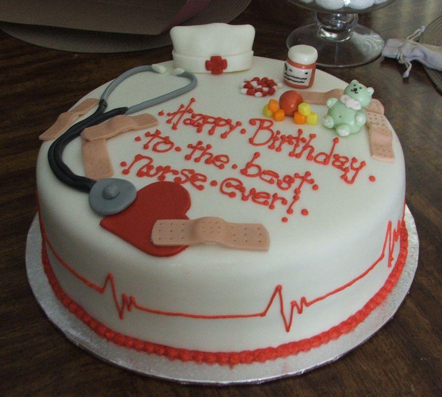 Pediatric nurse s birthday cake @Brittany Horton Horton ...