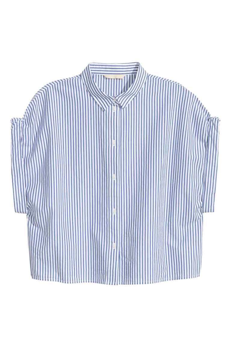 Camisa curta em algodão | H&M