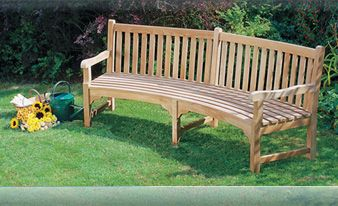 Teak Garden Bench, Outdoor Benches, Memorial Bench, Tree Seat, Lutyens Bench