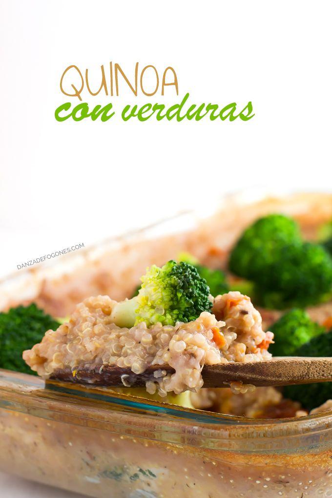 Quinoa con verduras  Receta  COCINA SALUDABLE  Pinterest  Quinoa Vegano y Comida