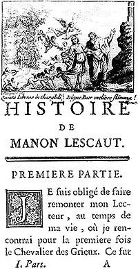 Manon Lescaut Wikipedia The Free Encyclopedia Manon Lescaut French Books 18th Century