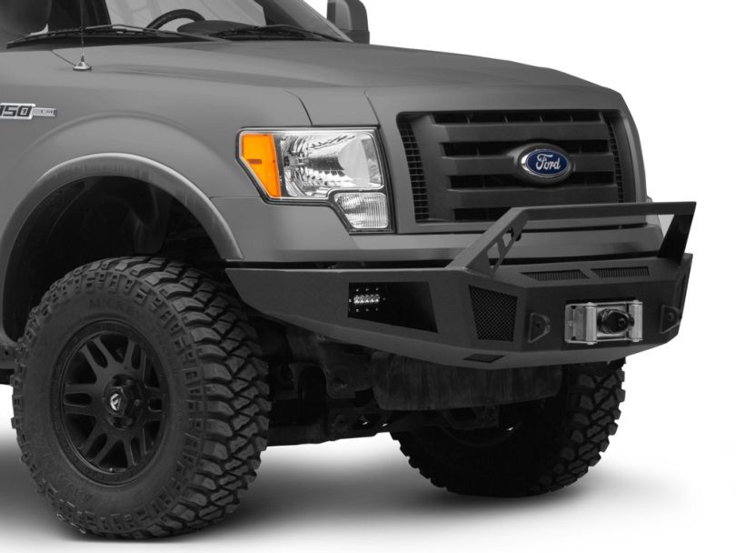 Barricade F 150 Hd Winch Front Bumper With Led Lighting T542489 09 14 F 150 Excluding Raptor Led Fog Lights Bumpers Winch