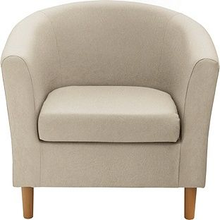Buy Argos Home Fabric Tub Chair Mocha Armchairs And Chairs In