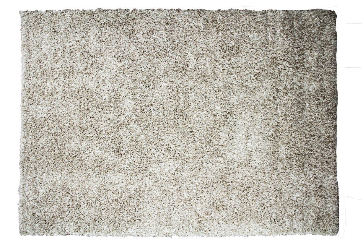 Tapis Shaggy blanc et beige 60x110cm Blanc/Beige - Domino - Descentes de lits et lirettes - Tapis pour chambre et salon - Tapis - Décoration d'intérieur - Alinéa