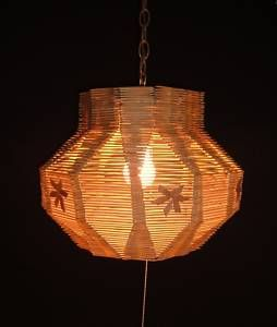 Vintage Folk Art Popsicle Stick Hanging Light Swag Lamp Ebay Popsicle Stick Art Swag Lamp Popsicle Sticks