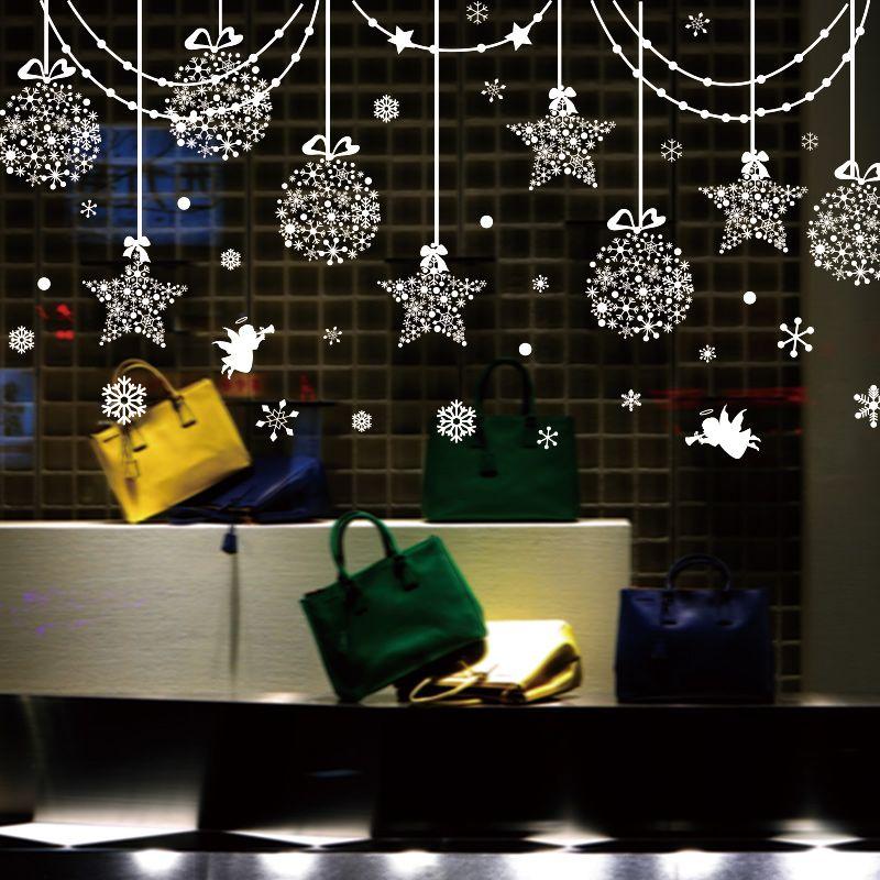 colgantes del encanto de la etiqueta de la pared diy creativo de navidad calcomanas decoracin para