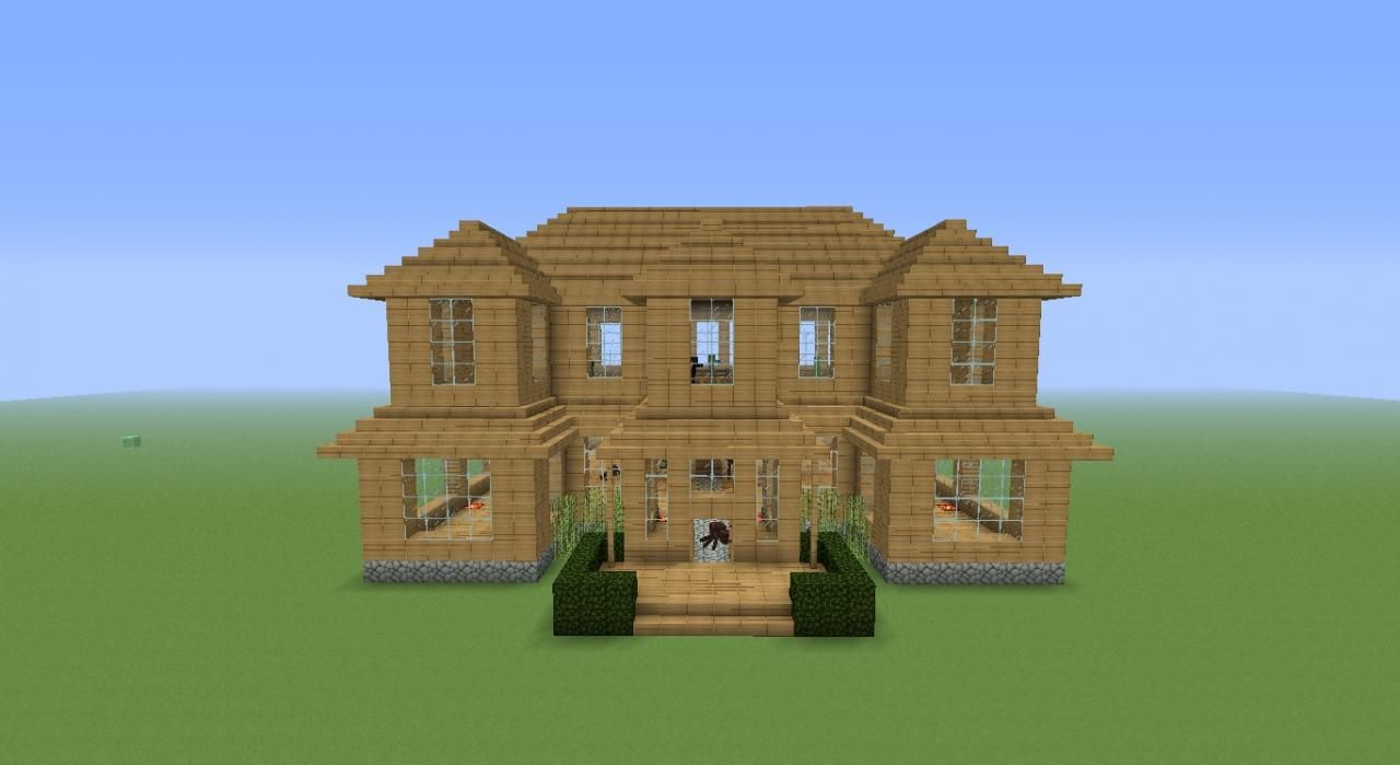 A simple easy to build mansion minecraft project for Easy things to build