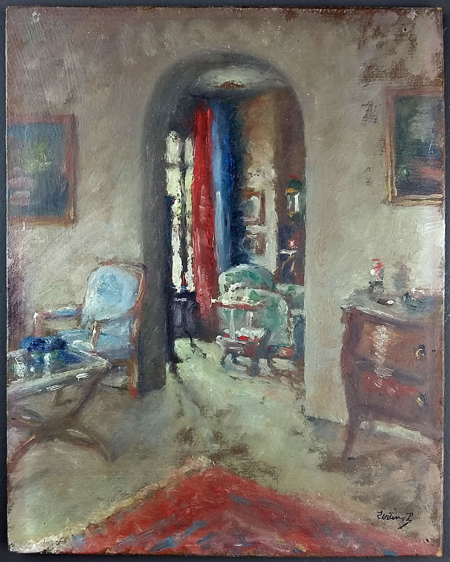 Artmeo Bourgeois Interior Xxe Time Painting Of A Bourgeois