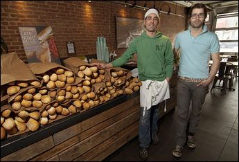 David Mazza, and Casey Patten - proprietors,Taylor Gourmet, in D.C.