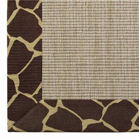 Animal Pattern Border Wool Sisal Rug Wool Sisal Wool Sisal Rug Rugs