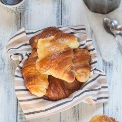 The Italian croissants, better known as cornetti sfogliati, soft, buttery and perfectly laminated.