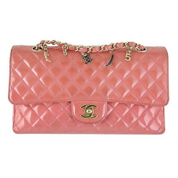 3f1314f4f7cd Pre-Owned Chanel Ginza 5th Anniversary Pink Patent Medium 2.55 Flap ...