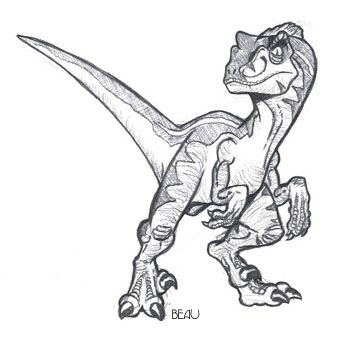 Jp Raptor By Beaubaphat On Deviantart Dinosaur Drawing Dinosaur Sketch Velociraptor Drawing