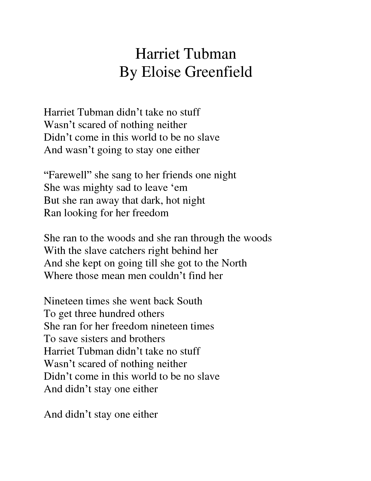 Eloise Greenfield Poems