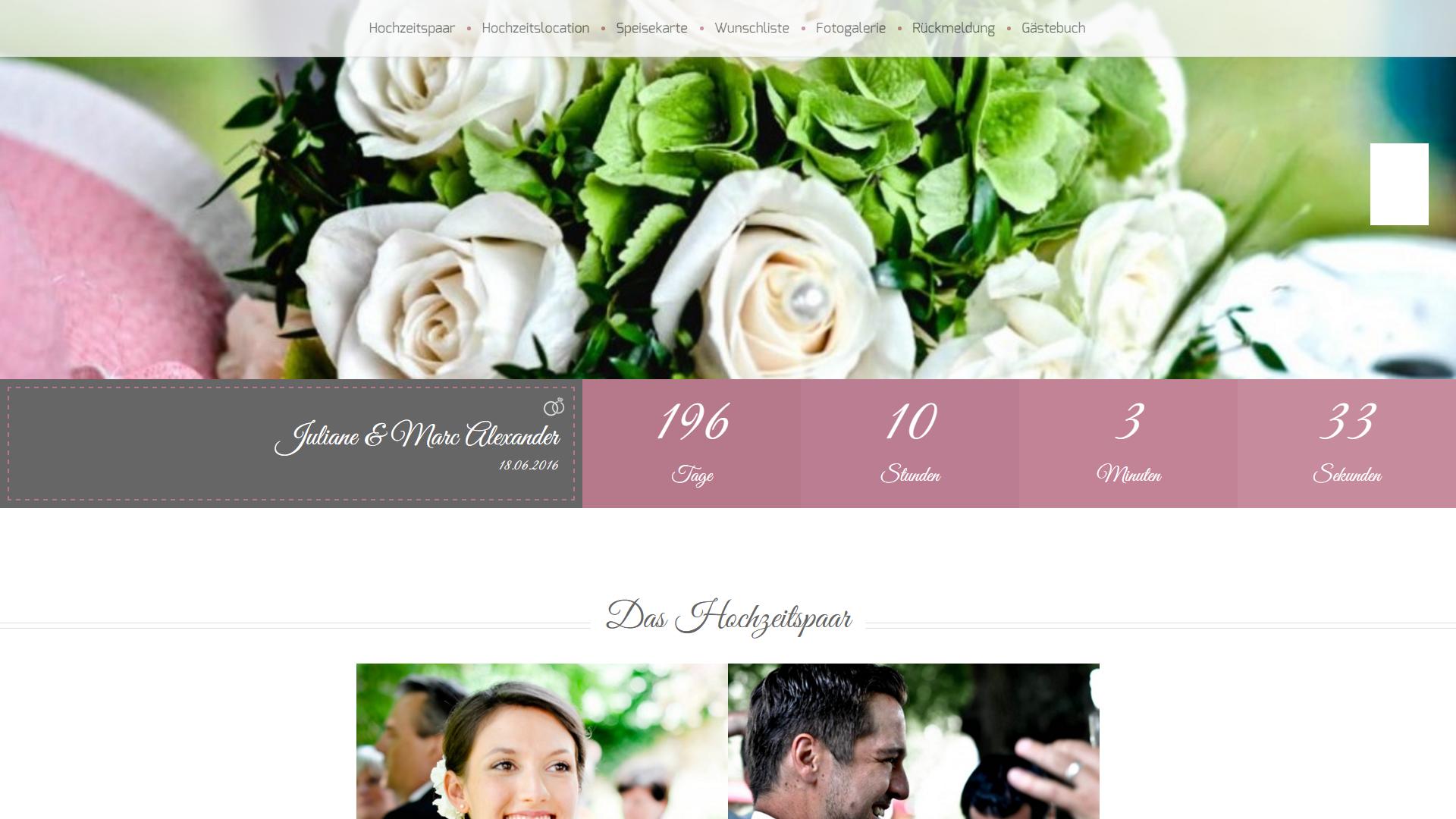 hochzeitshomepage ganz einfach erstellen hochzeitsseite erstellen hochzeit webseite - Hochzeitshomepage Beispiele