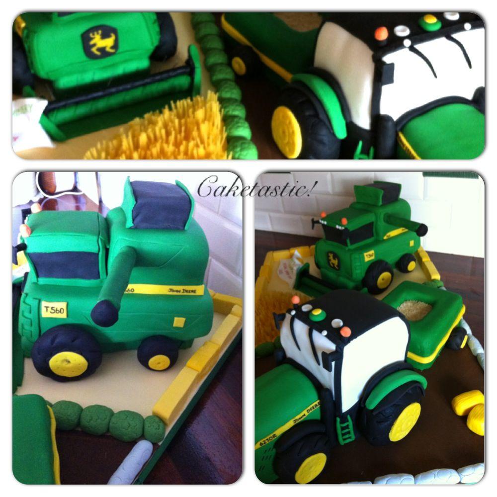 Combine Harvester & tractor cake!