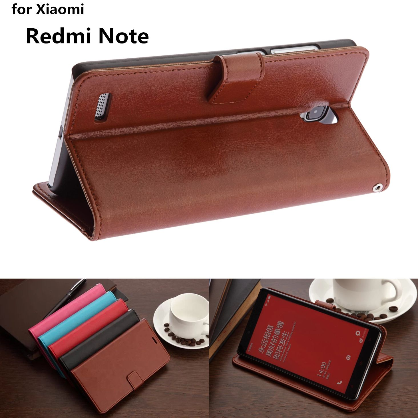hot sale online 4951d bbc40 Xiaomi HM Note card holder cover case for Xiaomi Redmi Note 1 LTE 4G ...