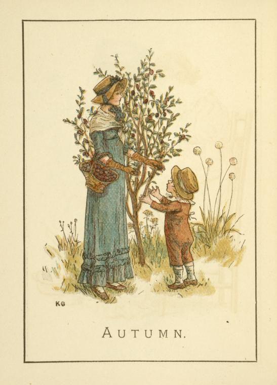 Autumn - Kate Greenaway's Almanack for 1895