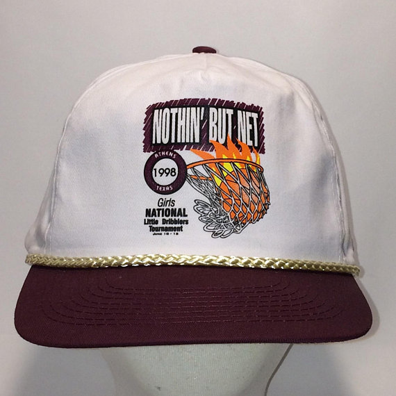 02193d83c69 Vintage Rope Snapack Hat Nothin But Net Basketball Hats For Men White  Burgundy Cap T13 JL8055