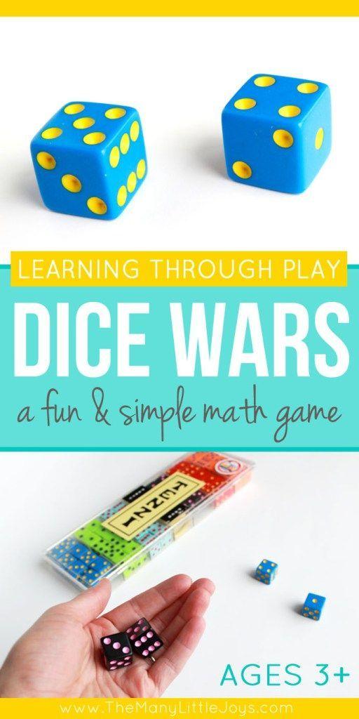 Dice Wars: A simple & fun math game for kids | Pinterest | Fun math ...