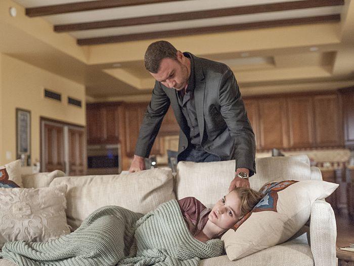 Liev Schreiber as Ray Donovan and Kerris Dorsey as Bridget Donovan