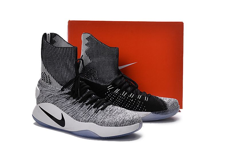 Nike Hyperdunk 2016 Flyknit \u0027Oreo\u0027 \u2013 Black/White Men\u0027s Basketball Shoes