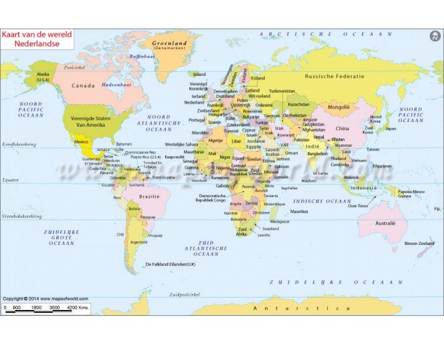 Dutch world map kaart van de wereld nederlandse store dutch world map kaart van de wereld nederlandse gumiabroncs Image collections