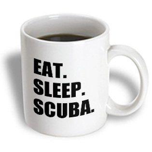 mug_180438_2 InspirationzStore Eat Sleep series - Eat Sleep Scuba dive - diving enthusiast passionate diver - black text - Mugs - 15oz Mug