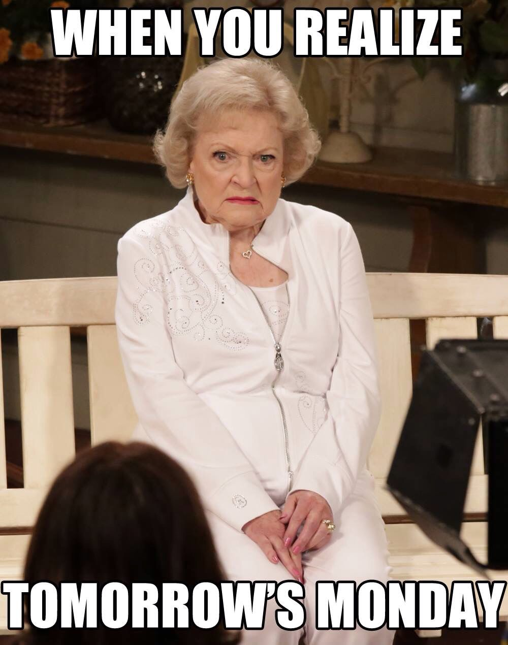 Monday Boo! Betty White's face Can't. Stop. Laughing