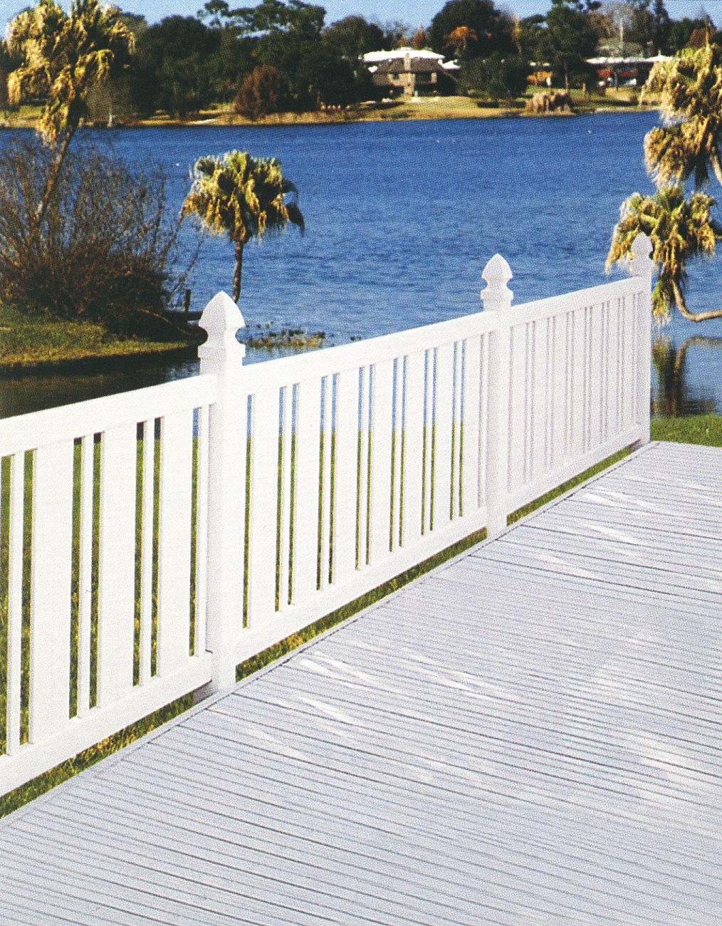 Another option for the low front yard fences - without the cone/pointing things on top