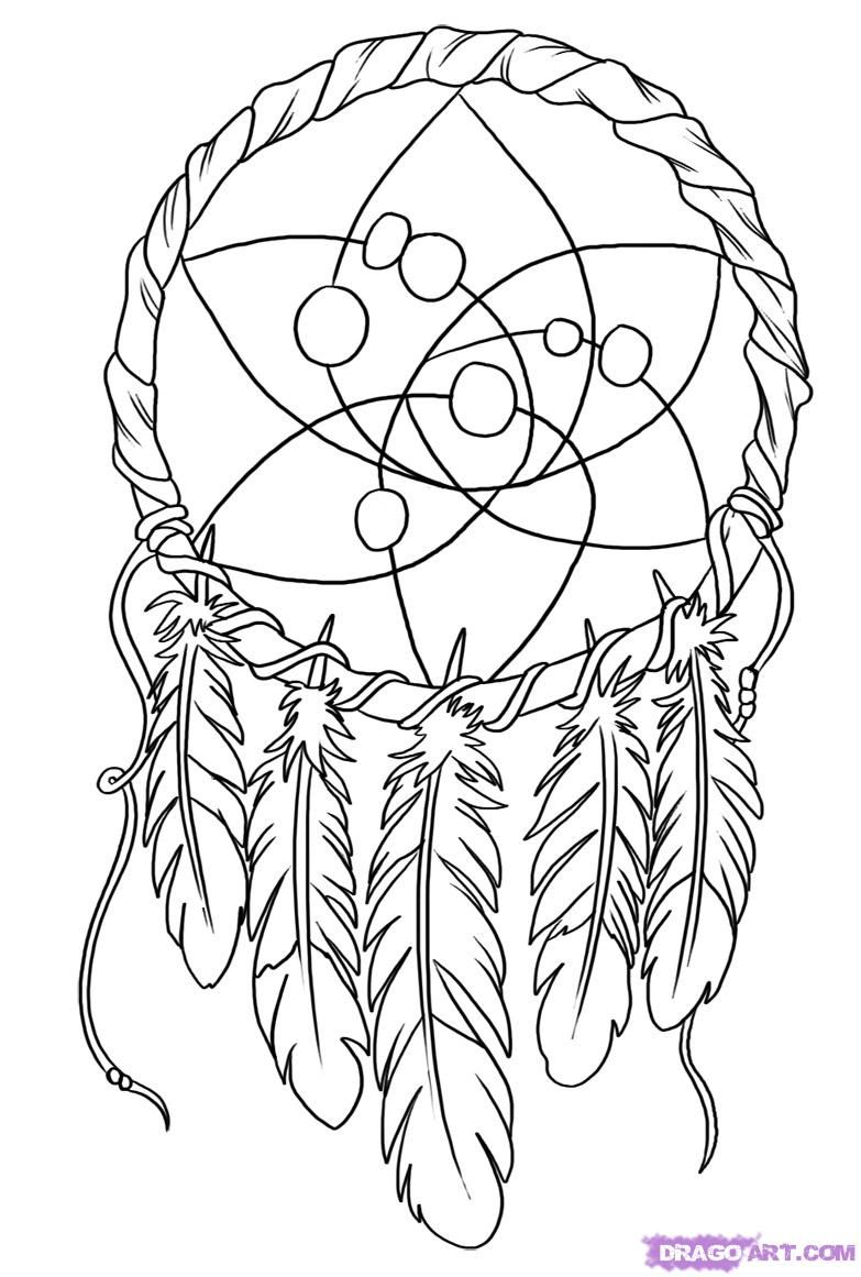 OODLES of DOODLES: Dreamcatcher coloring page | Adults coloring ...