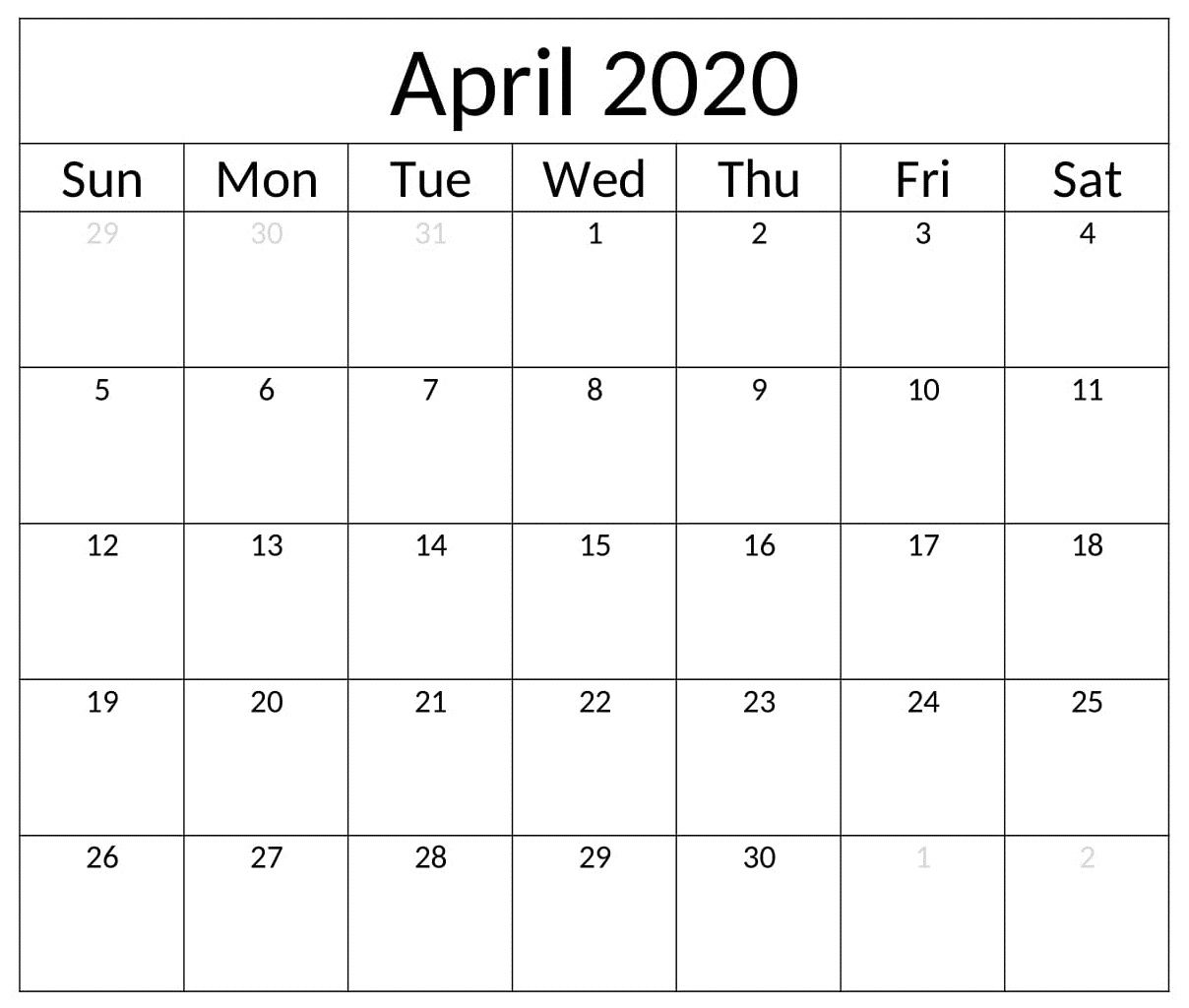 Pin On April Calendar