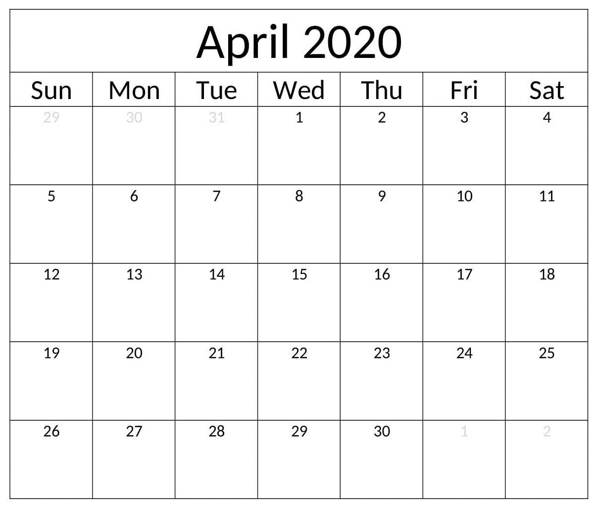 Pin On April Calendar
