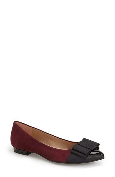 French Sole 'Onstage' Pointy Toe Ballet Flat (Women)