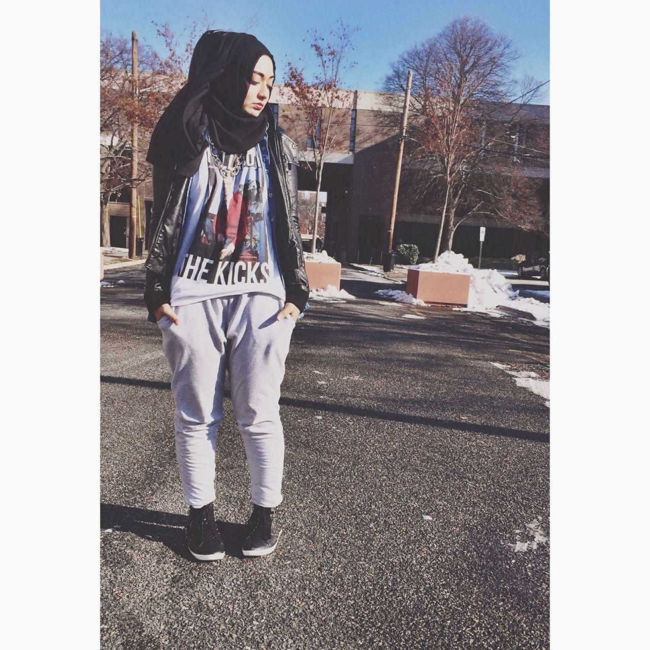 Laid back swag. hijab