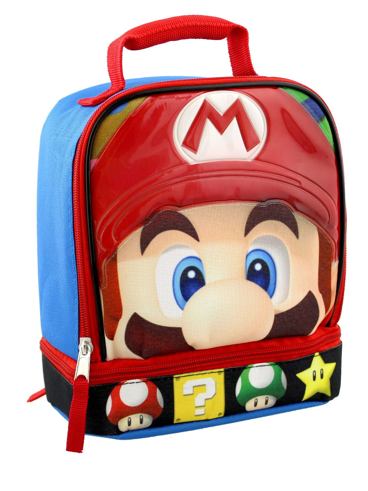 60ac3485a4 Help save Peach with this awesome Super Mario lunch box! This lunch  container is a cool way to make school lunches fun. This awesome dual  compartment soft ...