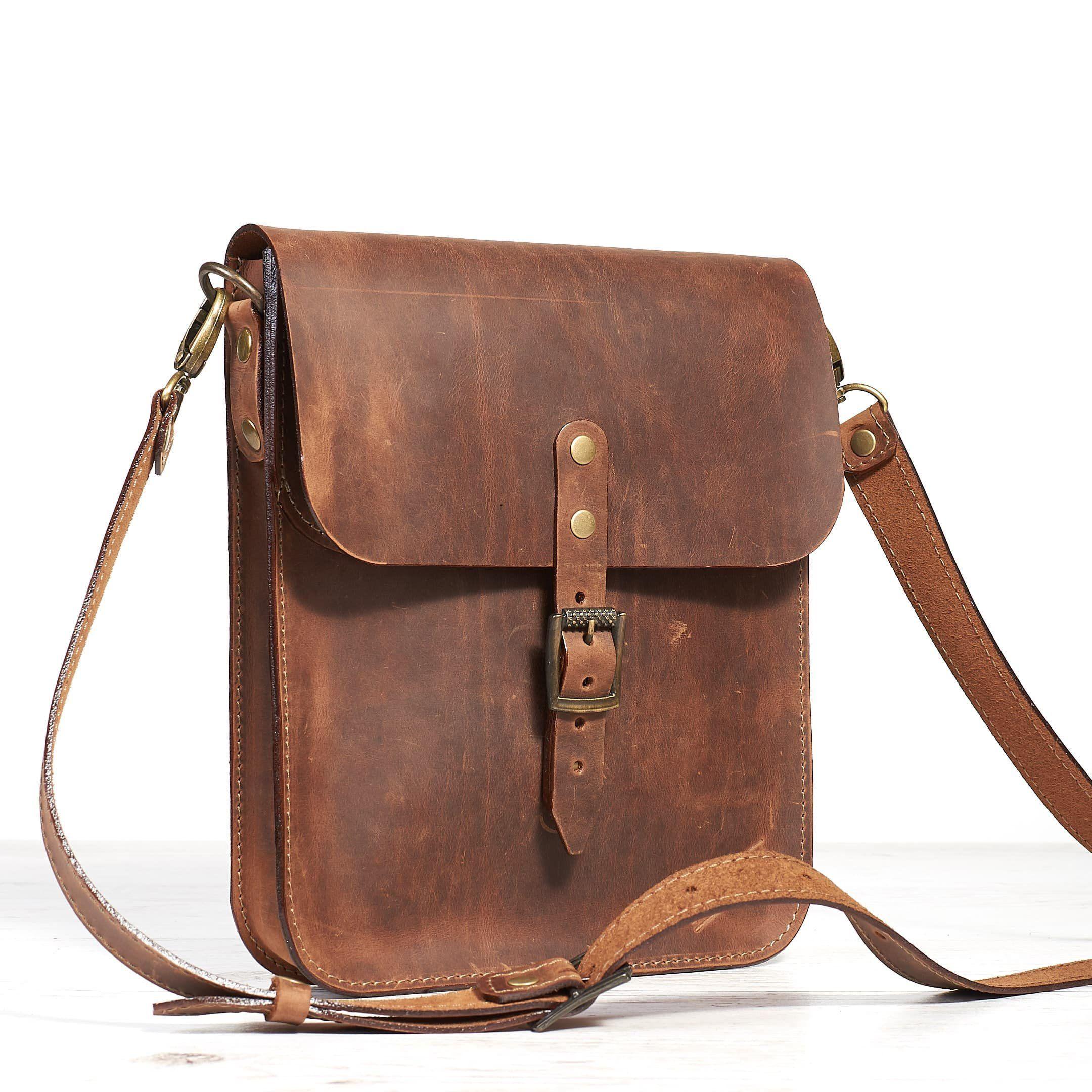 Bandolera de Hombre en Piel; Men/'s leather shoulder bag