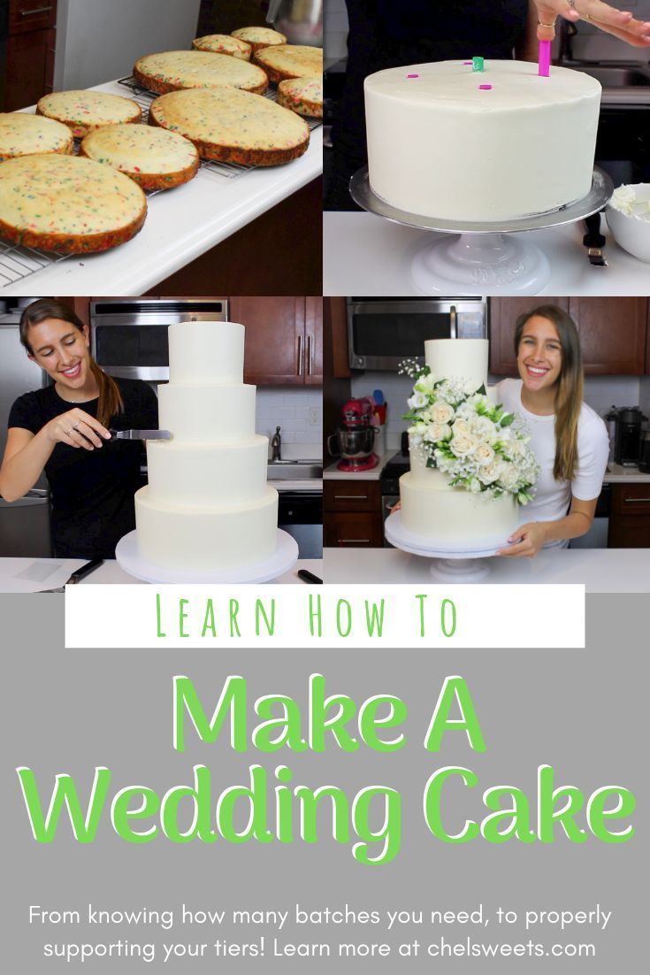 Learn my tips and advice on how to make your own wedding cake! I share everything I've learned over the years, along with how I made my wedding cake!!
