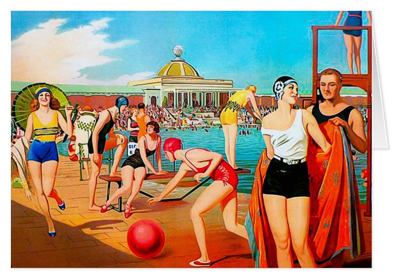 Vintage Summer Greeting Card Zazzle Com Railway Posters Vintage Advertising Posters Vintage Posters