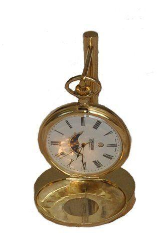d1cb9d39711 Bernex Swiss Made Quartz Gold Plate Half Hunter Moonphase Pocket Watch   265.73 (save  971.27)