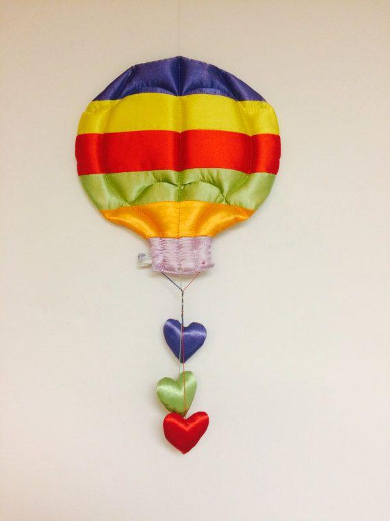 Vintage Rainbow Hot Air Balloon Mobile