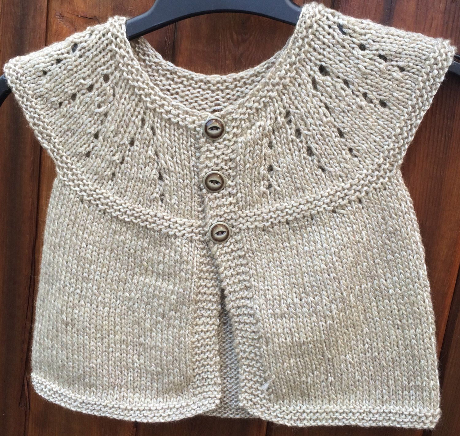 Knit Baby Cardigan Baby Clothes Baby Girl Clothes Handmade