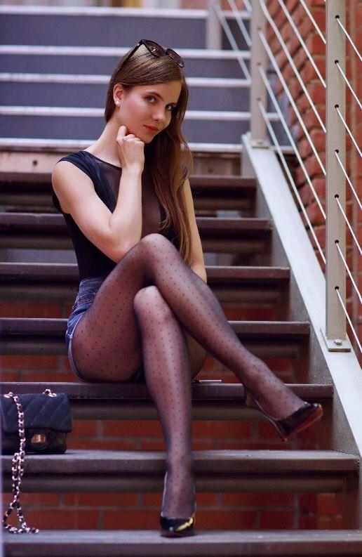 Germany pantyhose model