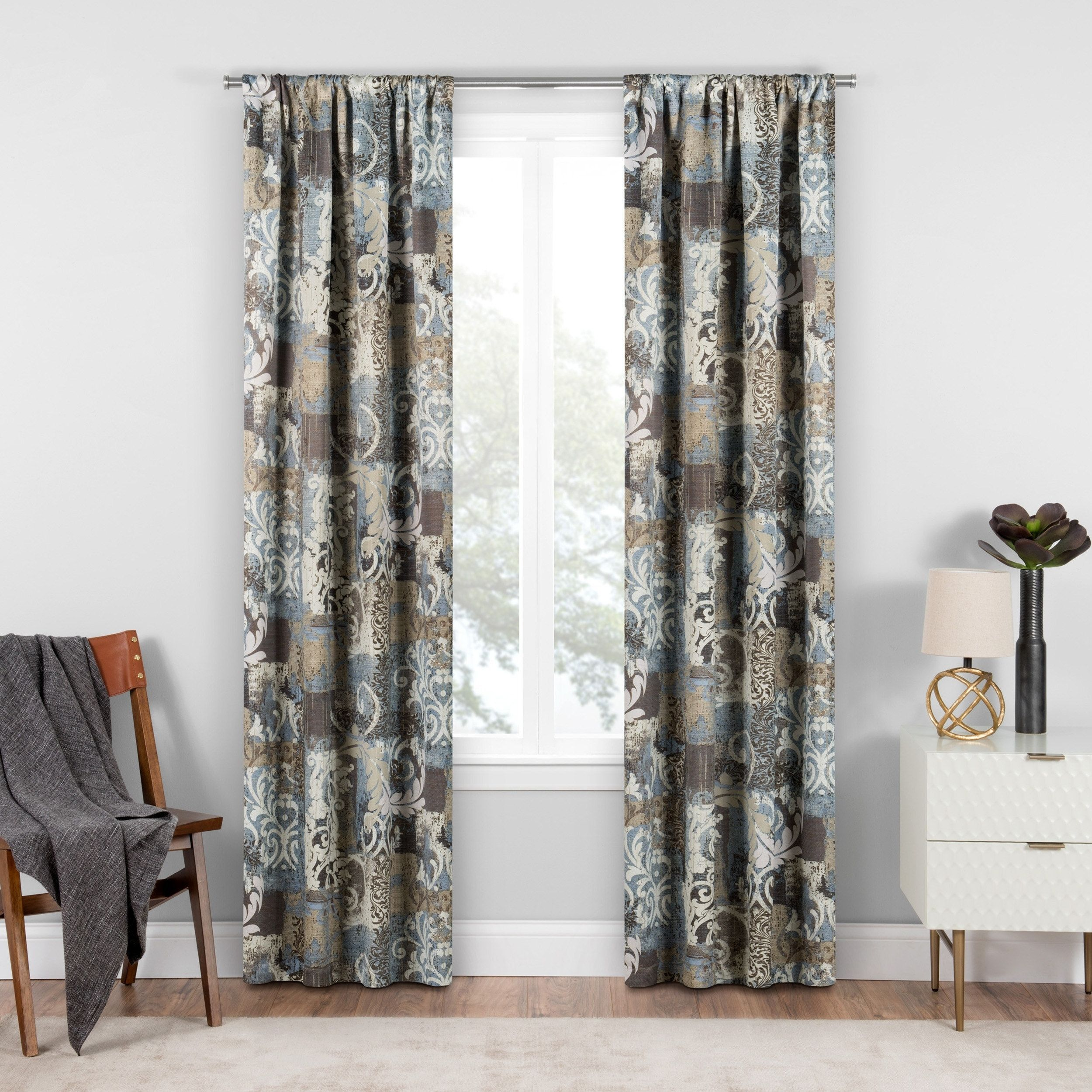 Eclipse chiswick blackout window curtain x spa blue