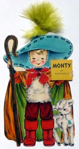 1949 hallmark dolls of the nations monty from australia doll cards 1949 hallmark dolls of the nations monty from australia hallmark greeting cardsvintage m4hsunfo