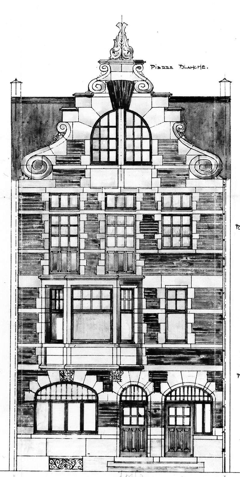 Etterbeek Avenue Edmond Mesens 11 11a Mineur Andre Architectuur Tekening Oude Architectuur Franse Architectuur