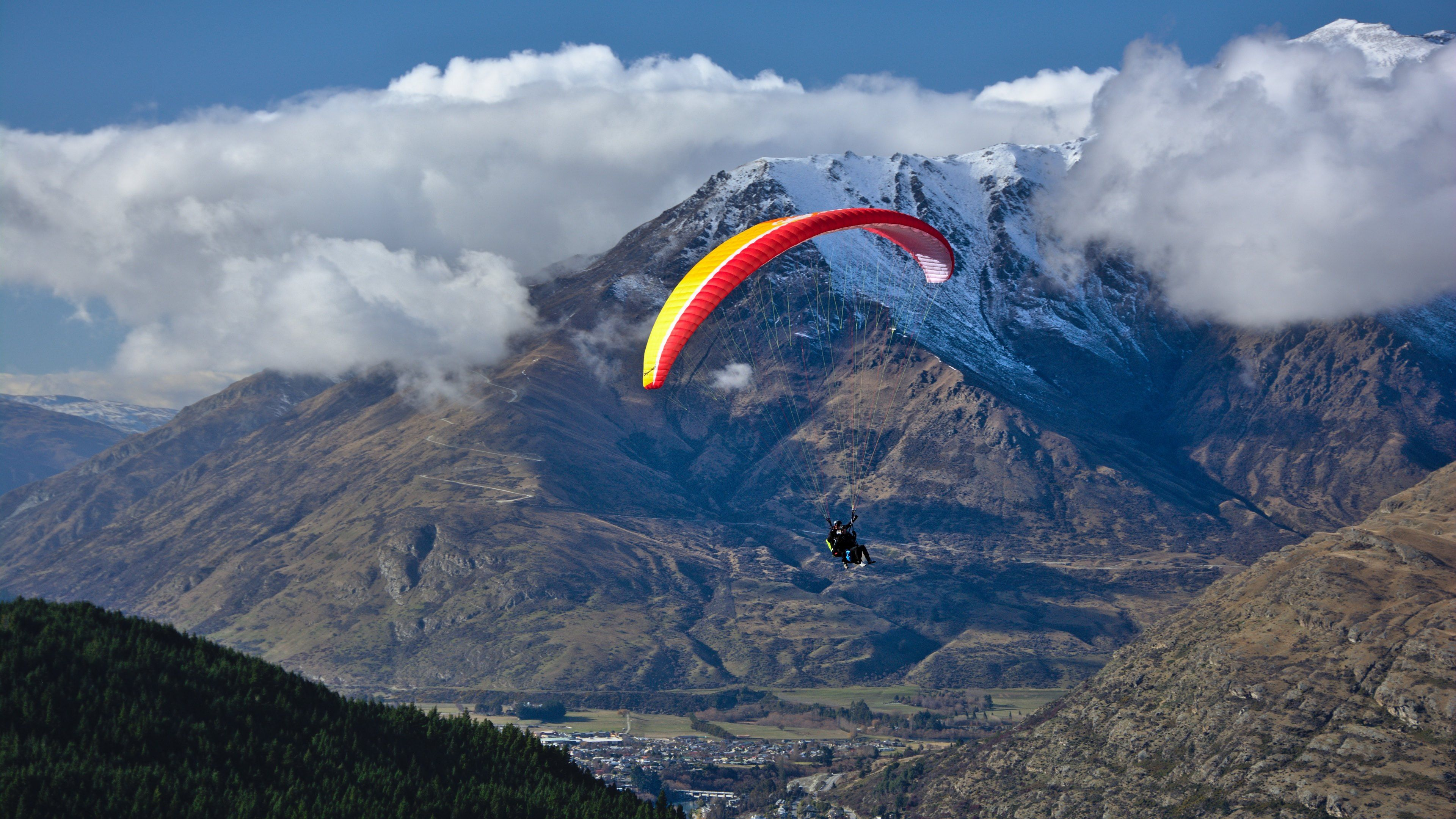 paragliding full hd wallpaper and background x id | wallpapers